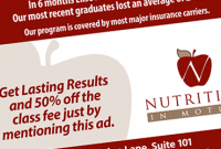 Nutrition In Motion Advertising Design