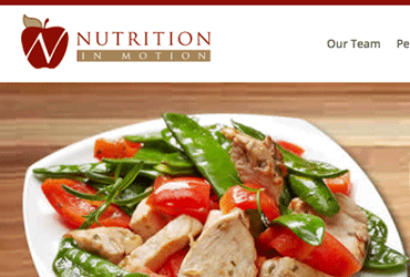 Nutrition In Motion Web Design